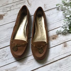 Juicy couture loafers flats leather shoes beige 9